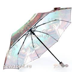 Женский зонт 3 сложения автомат Magic Rain бирюзовое море