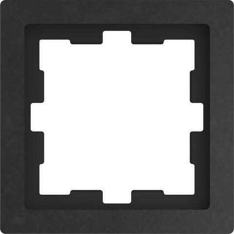 Рамка на 1 пост. Цвет Базальт. Merten D-Life System Design. MTN4010-6547