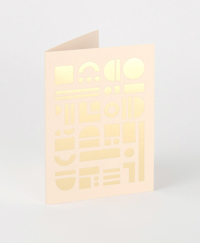 Открытка Artefact Card Brass & Nude