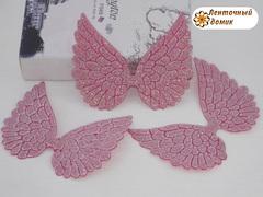 Декор глиттерный крылья большие арбузные