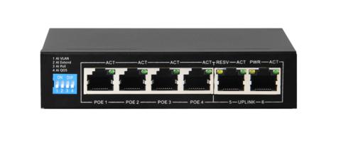 Сетевой коммутатор Polyvision PND-04P-2M