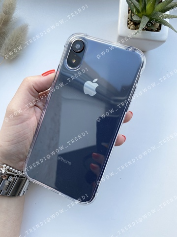 Чехол iPhone XR Simple simple angle silicone /transparent/ 443