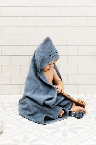 Elodie Details полотенце с капюшоном после купания Tender Blue