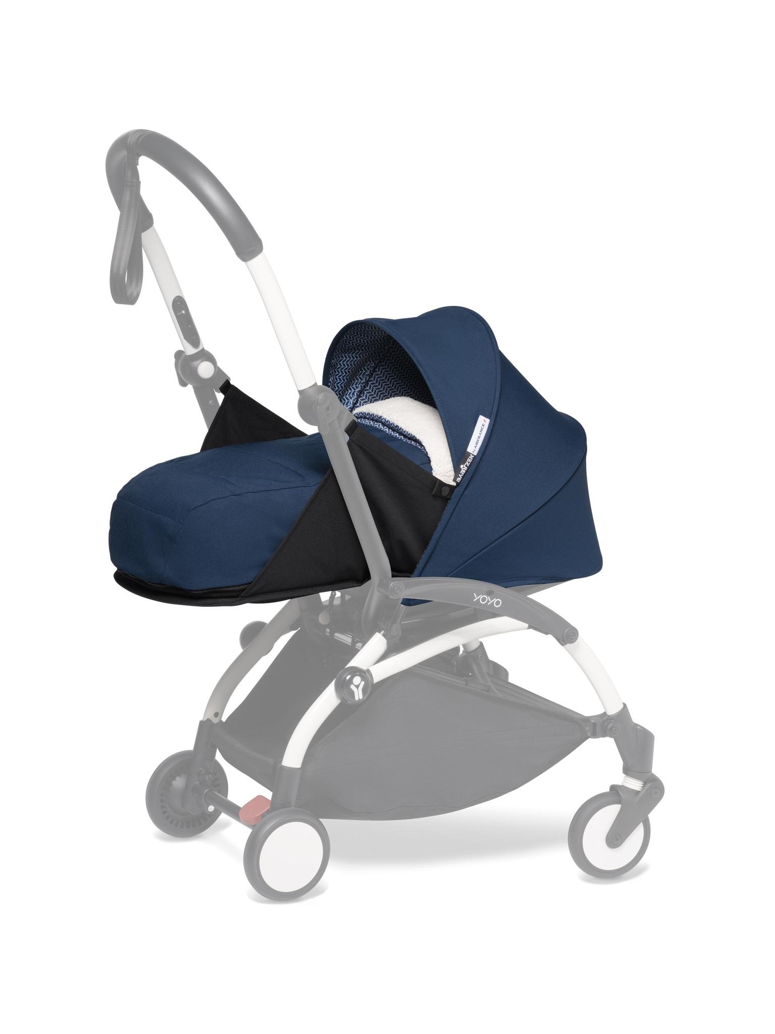 Комплект люльки для новорождённого BabyZen YOYO2 0+ Navy Blue Синий