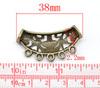 """Коннектор """"Ажурная трубочка"""" (2-5) 38х18 мм (цвет - античная бронза) (B14473B)"""
