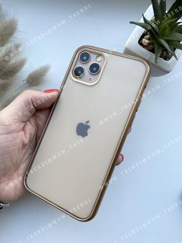 Чехол iPhone 11 Pro Shining Matte Case /gold/
