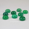Кабошон круглый Агат Зеленый, 10 мм