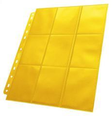 Ultimate Guard - Желтый двухсторонний лист для альбома на кольцах 3х3