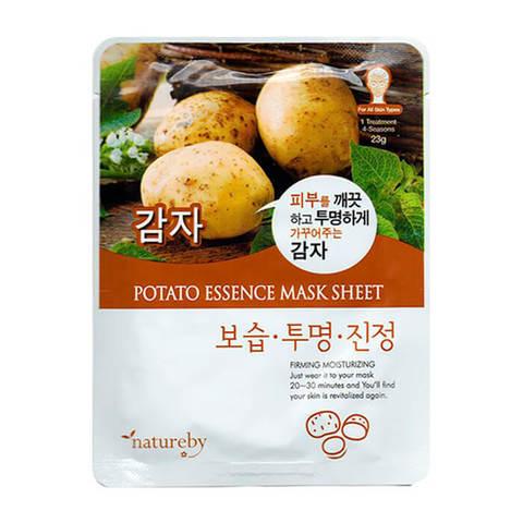 Natureby Тканевая маска для лица с экстрактом картофеля 23г