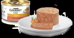 Gourmet Gold Кусочки в паштете с уткой, морковью и шпинатом 85 г