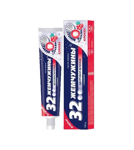 Modum 32 Жемчужины Паста зубная Здоровая белизна с клюквой 100г