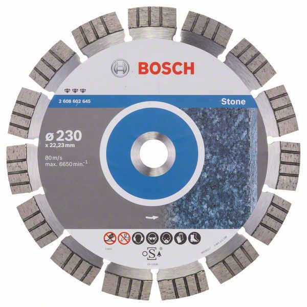 Алмазный диск Best for Stone 230-22,23 Bosch 2608602645
