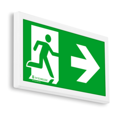 Настенный световой указатель обозначения путей эвакуации ONTEC-E TM Technologie