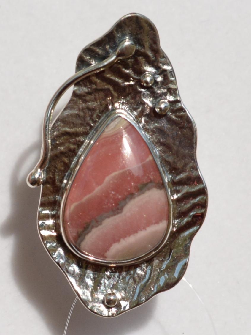 Тайна родохрозит (кольцо из серебра)