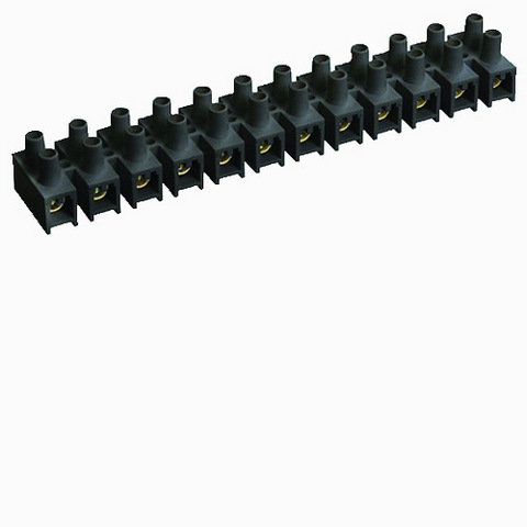 Зажим винтовой ЗВИ-10 полипропилен 1,5-6мм2 12пар 100°С черный TDM