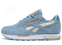 Кроссовки Женские Reebok Classic Leather Blue Suede