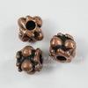 Бусина - спейсер (цвет - античная медь) 8х5,5 мм, 10 штук