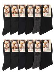 8428 BOYI носки мужские, цветные 42-48 (12шт)