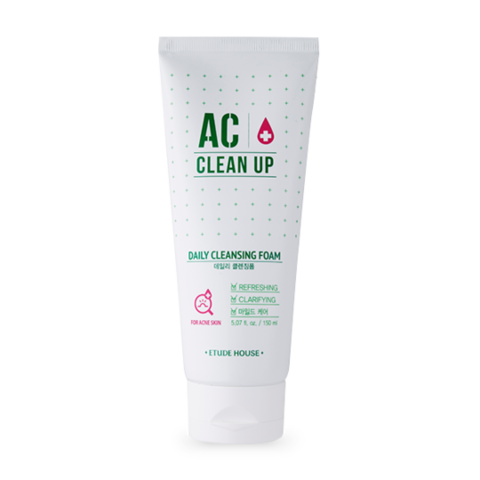 Очищающая пенка ETUDE HOUSE AC Clean Up Daily Cleansing Foam