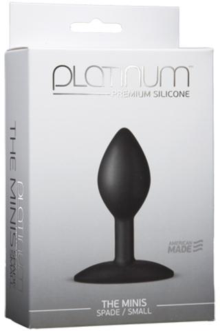 Анальная пробка для постоянного ношения Platinum Premium Silicone - The Mini's Spade (7,00х3,30 см)