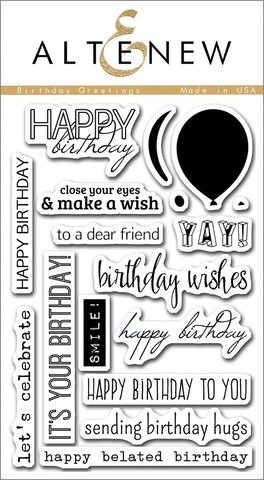 Набор штампов  Birthday Greetings Stamp Set