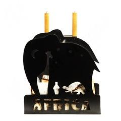 "Дровница Печной Оберег набор ""Африка"" стальная, черная, 450х350х480 мм"