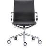 Офисное кресло Mercury LB, черная кожа/алюминий