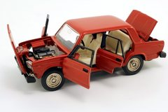 VAZ-2105 Lada red with black bottom 1:43 Agat Mossar Tantal