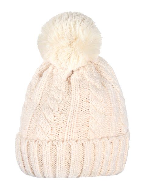 HT1805-2 шапка женская, бежевая