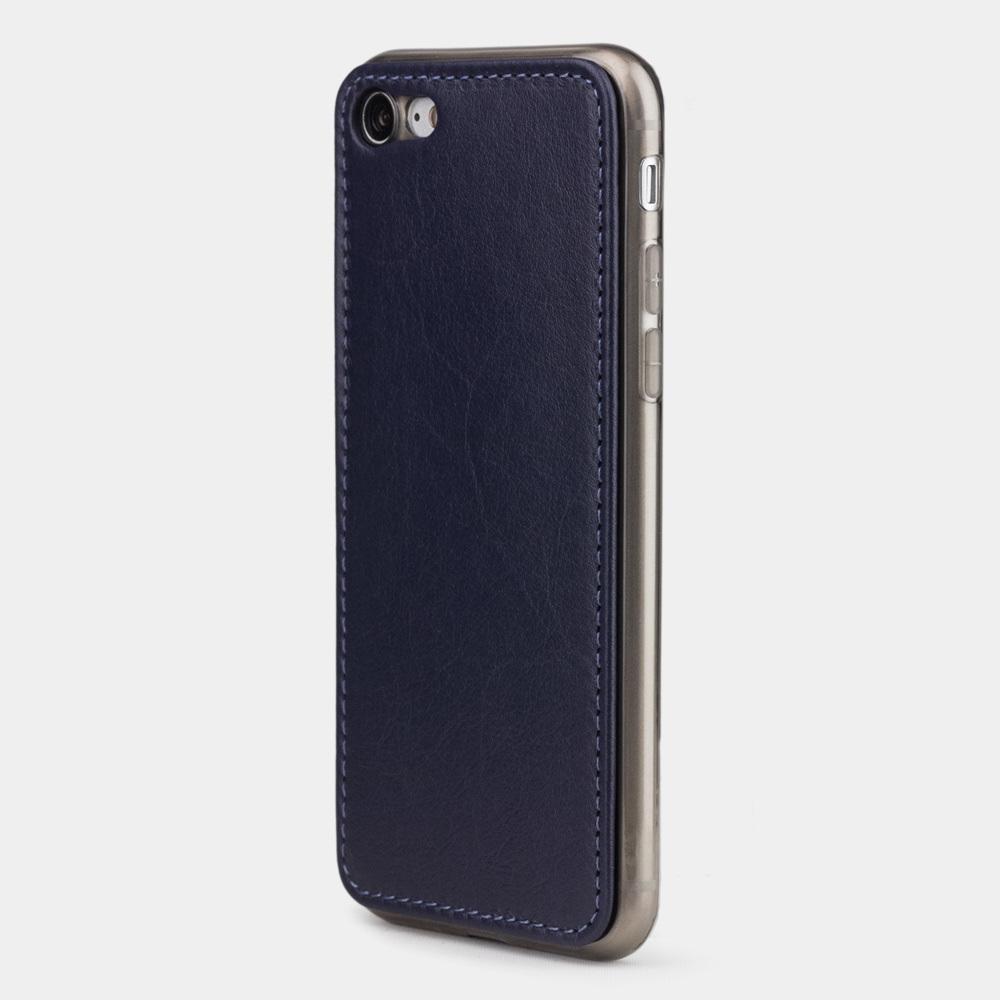 Чехол-накладка для iPhone 8/SE из натуральной кожи теленка,  цвета индиго