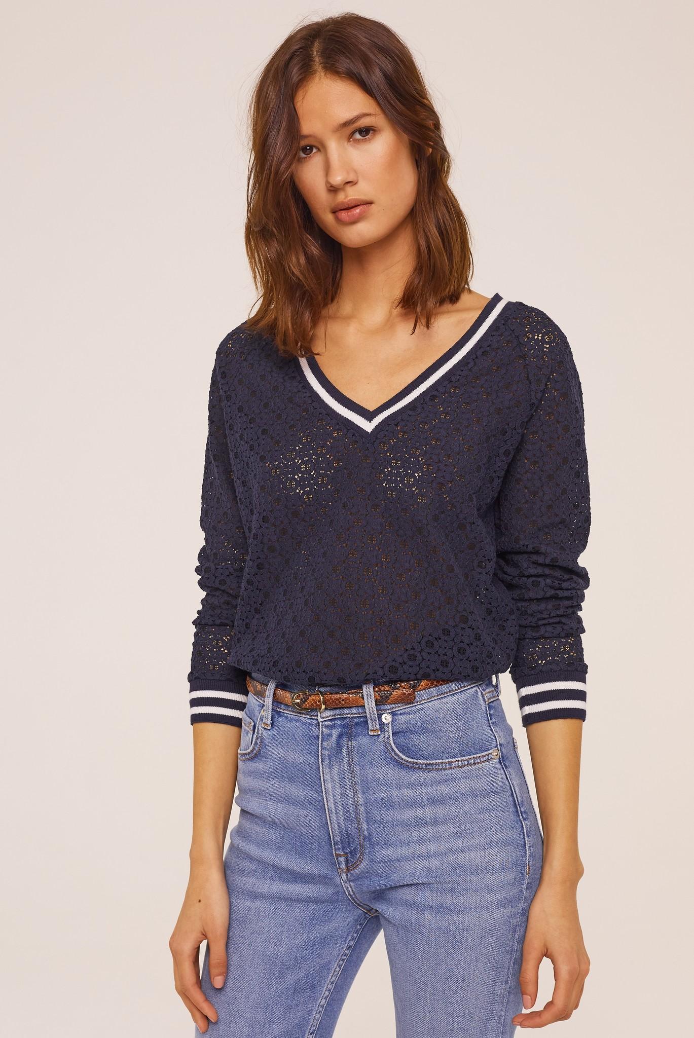 TINAEL - Кружевная футболка с длинным рукавом