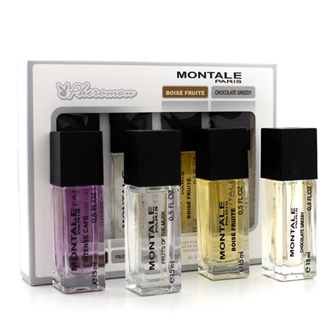 Набор мини-парфюма c феромонами Montale 4*15ml (у) (Intense Cafe, Fruits of the Musk, Boise Fruite, Chocolate Greedy)
