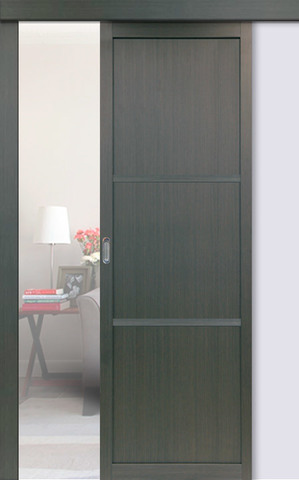 Перегородка межкомнатная Optima Porte 130.111, цвет венге, глухая (за 1 кв.м)