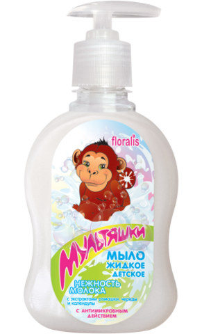 Floralis Мультяшки Мыло жидкое детское «Нежность молока» 330г