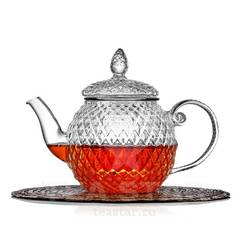 """Чайник заварочный """"Кристалл"""" 450 мл, стеклянный"""