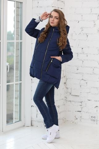 Куртка 2в1 для беременных 10802 синий