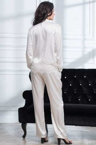 Комплект женский с брюками белый Mia-Amore  AFRODITA АФРОДИТА 2166