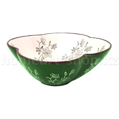 Салатник цветной, глазурь, каменная керамика, 7 х 15.5 см.