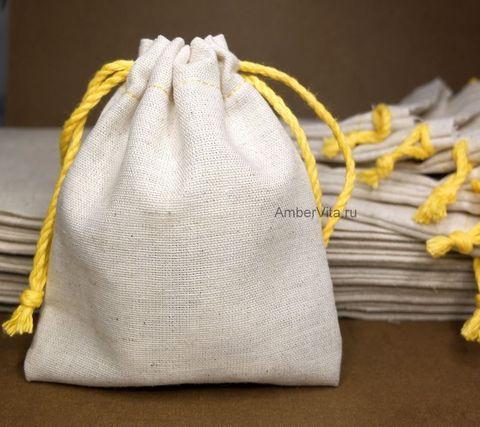 мешочек для украшений из натуральной ткани