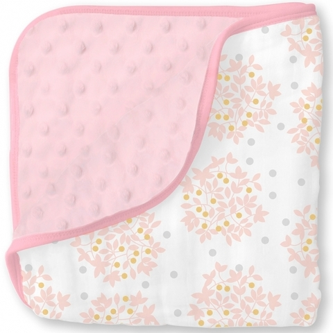 Одеяло муслин/флис Snuggle Blanket Heavenly Floral Shimmer