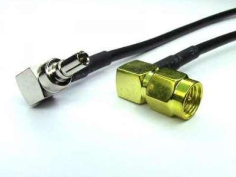 Антенный адаптер (пигтейл) SMA-male 90°/CRC9