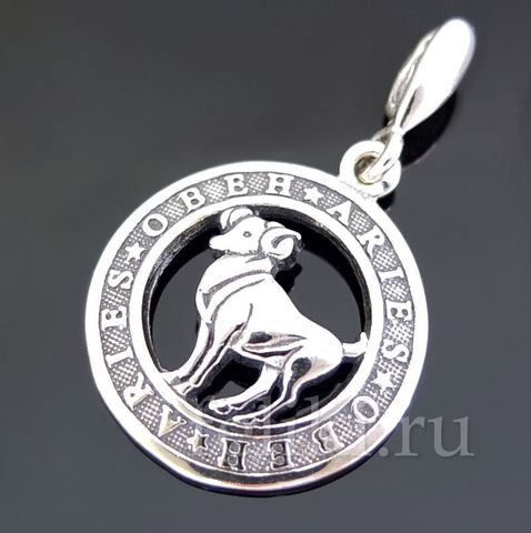 серебряный кулон знак Зодиака Овен