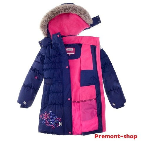 Пальто Premont зимнее Маршмеллоу WP91352 DARK BLUE