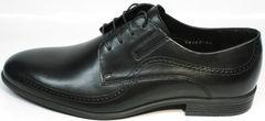 Кожаные мужские туфли на свадьбу Ikos 3416-4 Dark Blue.