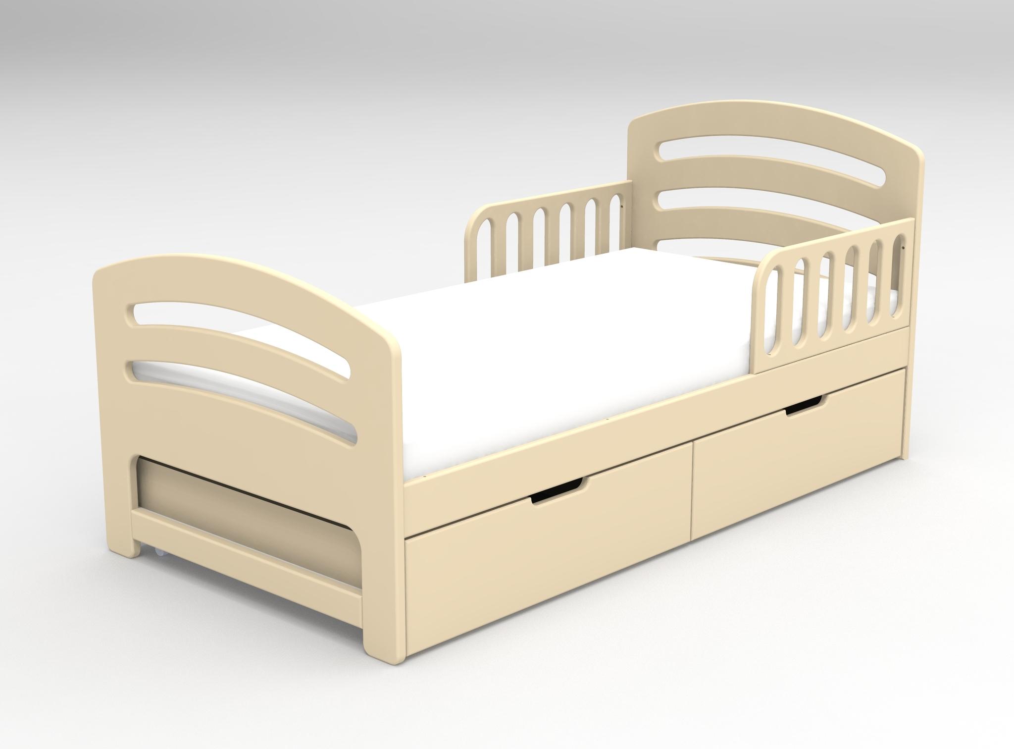 Кровать с ящиками Лахта Слоновая кость