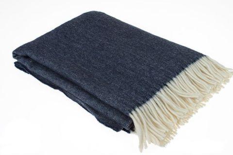 Элитный плед -покрывало Tweed синий от Luxberry
