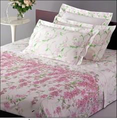 Постельное белье семейное Mirabello Campanule розовое