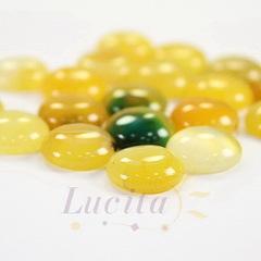 Кабошон круглый Агат желтый (тониров), 14 мм