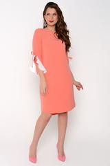 Строгое платье, скрывает в себе особый шарм. Контрастная игра цвета придает роскошь изделию. (Длина по спинке : 46-94см; 48-95см; 50-96см; 52-98см. Разница переда и спинки 6 см)