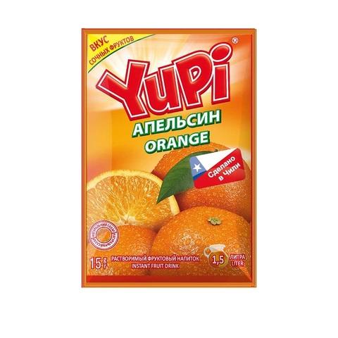 Растворимый напиток YUPI Апельсин 1кор*6бл*24шт 15 гр.
